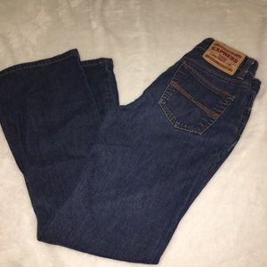 Express Precision Fit Hipster Flare Jeans Size 3/4